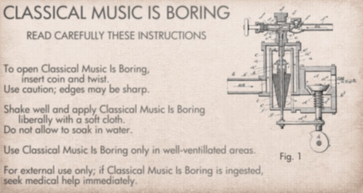 Classical Music Is Boring - Comic strip about music